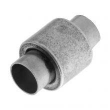 Fermoir Magnétique Acier Inoxydable (Diamètre de l'intérieur 6 mm) Argent Antique (1 pièce)