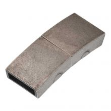 Fermoir Magnétique Acier Inoxydable (Diamètre de l'intérieur 10 x 3 mm) Argent Antique (1 pièce)