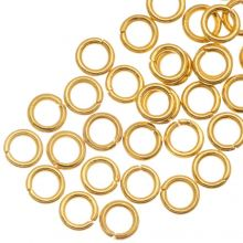Anneaux de Saut Acier Inoxydable (4 mm) Or (50 pièces) Épaisseur 0.5 mm