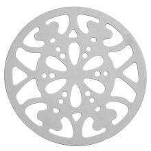 Breloque Acier Inoxydable (26 mm) Argent Antique (20 pièces)