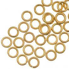 Anneaux de Saut Acier Inoxydable (4 mm) Or (50 pièces) Épaisseur 0.8 mm