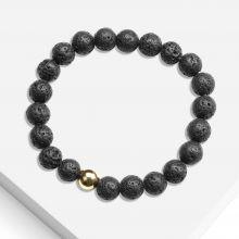 Bracelet avec Perles en Pierre Naturelle (8 mm) Lava (1 pièce)