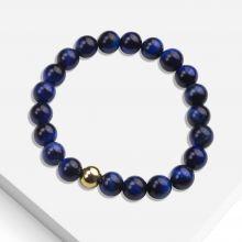 Bracelet avec Perles en Pierre Naturelle (8 mm) Blue Tiger Eye (1 pièce)