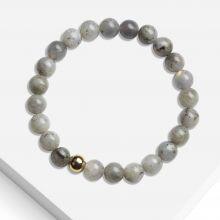 Bracelet avec Perles en Pierre Naturelle (8 mm) Labradorite (1 pièce)