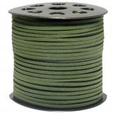 Fil imitation Daim (3 mm) Cactus Green (91 mètres)
