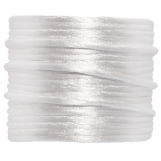 Fil de Satin (1.5 mm) White (15 mètres)