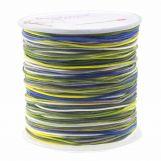 Fil en Nylon (1 mm) Mix Color - Navy Yellow (100 mètres)