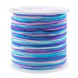 Fil en Nylon (1 mm) Mix Color - Shades of Blue (100 mètres)