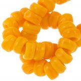 Perles en verre Rondelles (6 x 3 mm) Summer Orange (55 pièces)