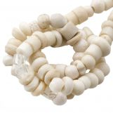 Mélange de Perles en Os (4 x 2 mm) Natural (150 pièces)