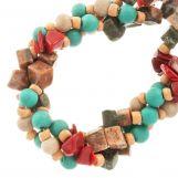 Mélange de Perles Agate et Perles en Verre (9 - 4 mm) Groovy (150 pièces)
