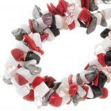 Mélange de Perles en Verre Chips (12 - 5 mm) Abstract (170 pièces)