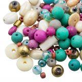 Mélange de Perles Diverses (tailles diverses) Trendy (50 grammes)