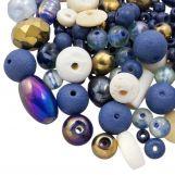 Mélange de Perles Diverses (tailles diverses) Indigo Blue (50 grammes)