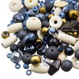 Mélange de Perles Diverses (tailles diverses) Cobalt Blue (50 grammes)