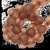 Perles En Résine Mat (9 mm) Cognac Brown (25 pièces)