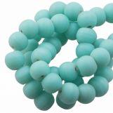 Perles En Verre Matt (6 - 7 mm) Teal (35 pièces)