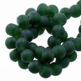 Perles En Verre Matt (6 - 7 mm) Pine (35 pièces)
