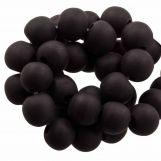 Perles En Résine Mat (8 - 9 mm) Dark Chocolate (20 pièces)