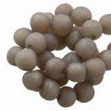 Perles En Résine Mat (8 - 9 mm) Hazel Wood (20 pièces)