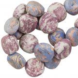 Perles en Céramique (16 x 8 mm) Lavender (13 pièces)
