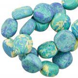 Perles en Céramique (16 x 8 mm) Blue Lagoon (13 pièces)