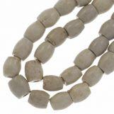Perles en Céramique (11 x 10 mm) White Smoke (18 pièces)