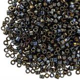 Miyuki Delica (11/0) Metallic Black Luster (10 grammes)