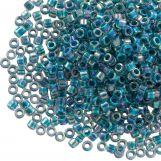 Miyuki Delica (11/0) Marine Blue Lined Crystal AB (10 grammes)