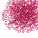 Rocailles DQ (4 mm) Candy Pink AB (25g / 350 pièces)