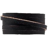 Cuir Plat DQ (5 x 2 mm) Black (1 mètres)