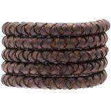 Cuir tressé DQ (8 mm) Chestnut (1 mètre)