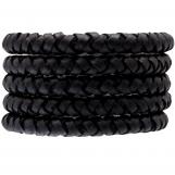 Cuir tressé DQ (8 mm) Black (1 mètre)