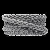 Cuir tressé DQ (6 x 3.5 mm) Light Grey (1 mètre)