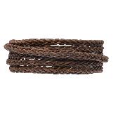 Cuir tressé DQ (4 mm) Brown (1 mètre)