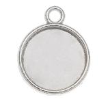 Serti 1 Anneau (12 mm) Argent Antique (10 pièces)