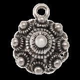 Bouton Zélandais Breloque (13 mm) Argent antique (10 pièces)