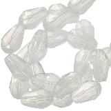 Perles Facettes Goutte (5 x 7 mm) White Shine (70 pièces)