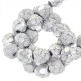 Perles Facettes Fire-Polished DQ (Silver) 6 mm (25 pièces)