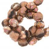 Perles Facettes Fire-Polished DQ (Capri Rose) 6 mm (25 pièces)