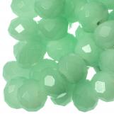 Perles Facettes Rondelle  (8 x 6 mm) Mint Green (72 pièces)