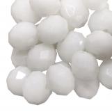 Perles Facettes Rondelle  (8 x 6 mm) White (72 pièces)