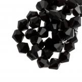 DQ Perles Facettes Bicone (8 mm) Black (15 pièces)