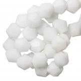 Perles Facettes Bicone (4mm) White (110 pièces)