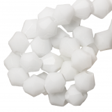 Perles Facettes Bicone (6 mm) White (50 pièces)