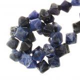 Perles Sodalite Bicone (6 mm) 62 pièces
