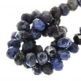 Perles Sodalite Rondell (8 x 5 mm) 67 pièces
