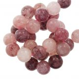 Perles Strawberry Quartz (6 mm) 67 pièces