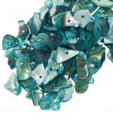 Perles Coquillage (18 - 5 mm) Light Sea Green (25 gram / ca. 70 pièces)