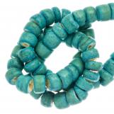 Perles Noix de Coco (4 - 5 mm) Turquoise (110 pièces)